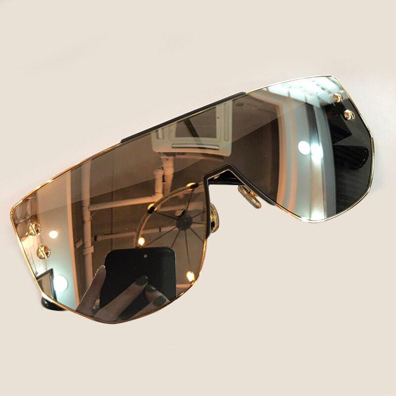 Lunettes de soleil de luxe lunettes de soleil femmes conception de marque de mode 2018 haute qualité lunettes de soleil femmes Vintage surdimensionné lunettes de soleil dégradé