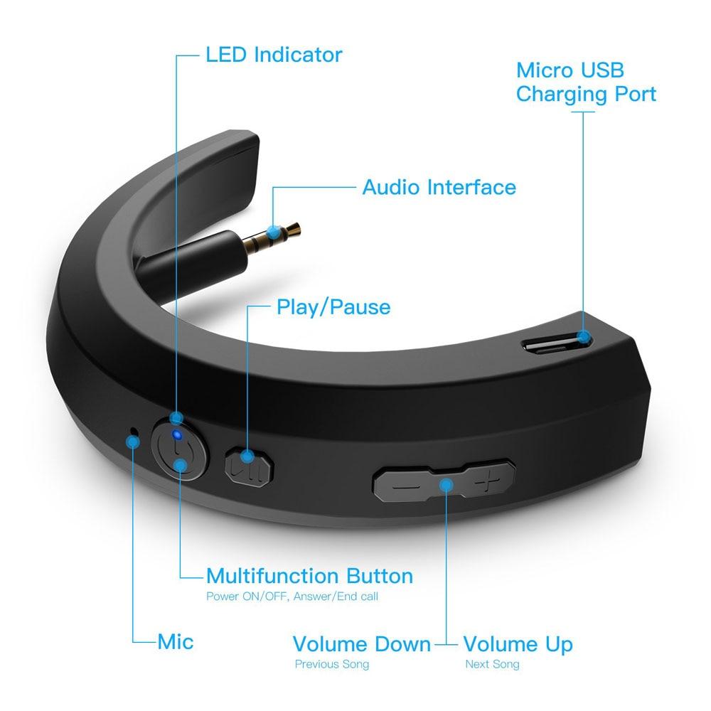 POYATU Wireless Bluetooth Adapter For Bose QC25 QC 25 Headphones Wireless Bluetooth Receiver For Bose QuietComfort 25 aptX  A-3
