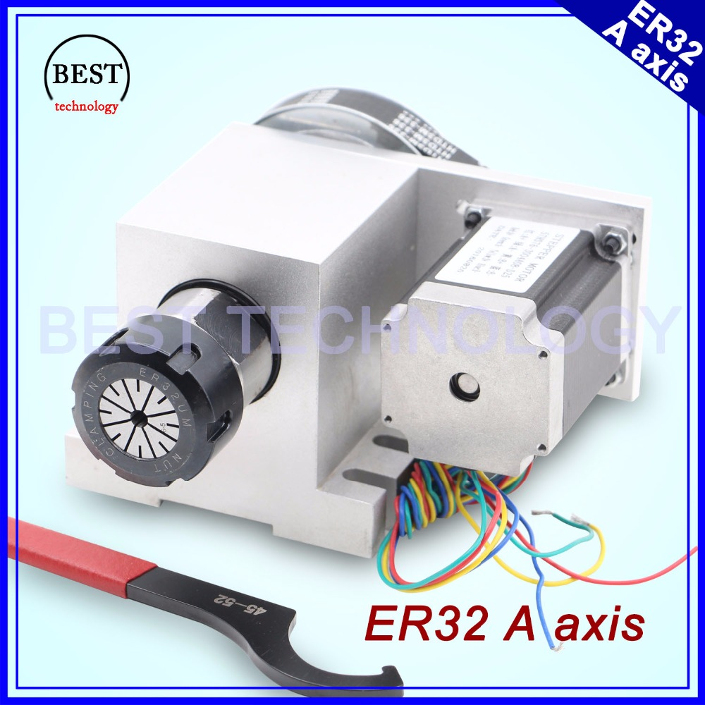 ER32 Chunk 4th Axis CNC dividing head Rotation 6:1 A Axis/ A axis kit for Mini CNC router wood working engraving machine cnc router wood milling machine cnc 3040z vfd800w 3axis usb for wood working with ball screw
