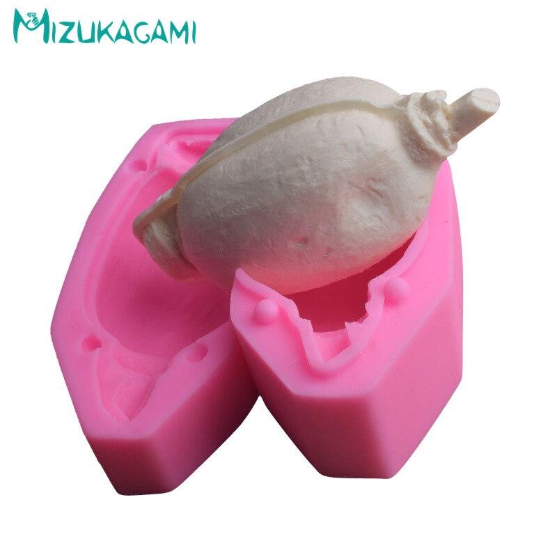 3D Lotus moulage gâteau bricolage chocolat Silicone Fondant outils de cuisson arôme gypse cuisine demi corps MJ-01937