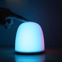 Rechargeable 9 Mode Smart Touch Sensor Night Light Luminaria Dimmer LED Lamp Bedside Table Lamp Shake