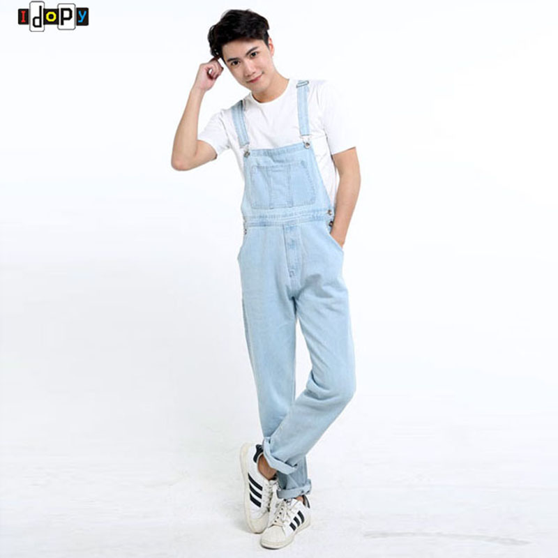 myynti ostaa uusia 50% alennus US $53.42 30% OFF|New Arrival Men`s Denim Overalls Washed Light Blue Plus  Size Jeans Jumpsuit For Men S 5XL-in Jeans from Men's Clothing on AliExpress