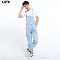 New Arrival Men S Denim Overalls Washed Light Blue Plus Size Jeans Jumpsuit For Men S