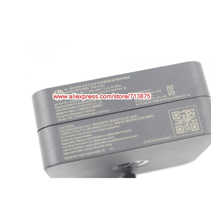 15V 3A TPN-CA02 Wall AC Adapter for HP Elite X2 1012 G1 USB-C,Spectre X360 13-W013DX