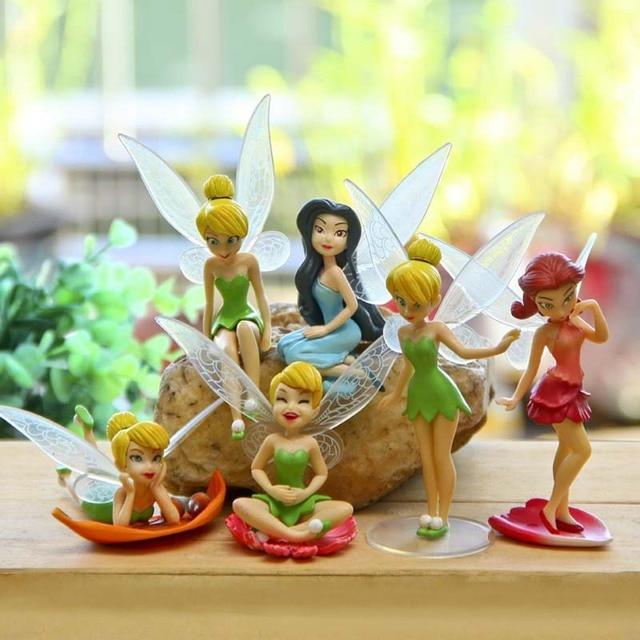 6PCS Magic Fairy,Anime Movie Character Mini Figurines,DIY Gnomes Fairy  Garden Miniatures,