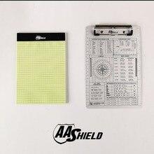 AA Escudo A5 A5 Kit Clipe de Arquivo de Escritório Placa De Alumínio Pad Notebook À Prova D Água