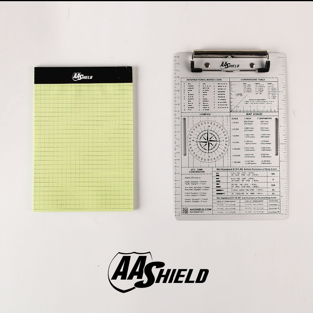 AA Shield A5 Office File Clip Aluminum Board Pad Waterproof Notebook A5 Kit 2pcs lot plastic clip board clip file a4 a5 folder plate pad metal bill clip report cover spine bar office stationery supplies