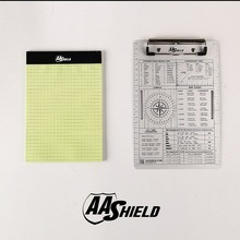 AA tarcza A5 plików pakietu Office klip aluminium płyta Pad wodoodporny notes A5 zestaw