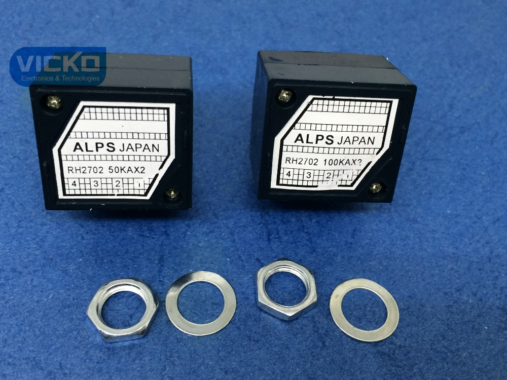 [VICKO] Japan Alps 27-type RH2702 50KAX2 50K 50KA A50K 8PIN with Loudness Potentiometer (switch) ctr associated with switch potentiometer single handle length 15fmm a50k