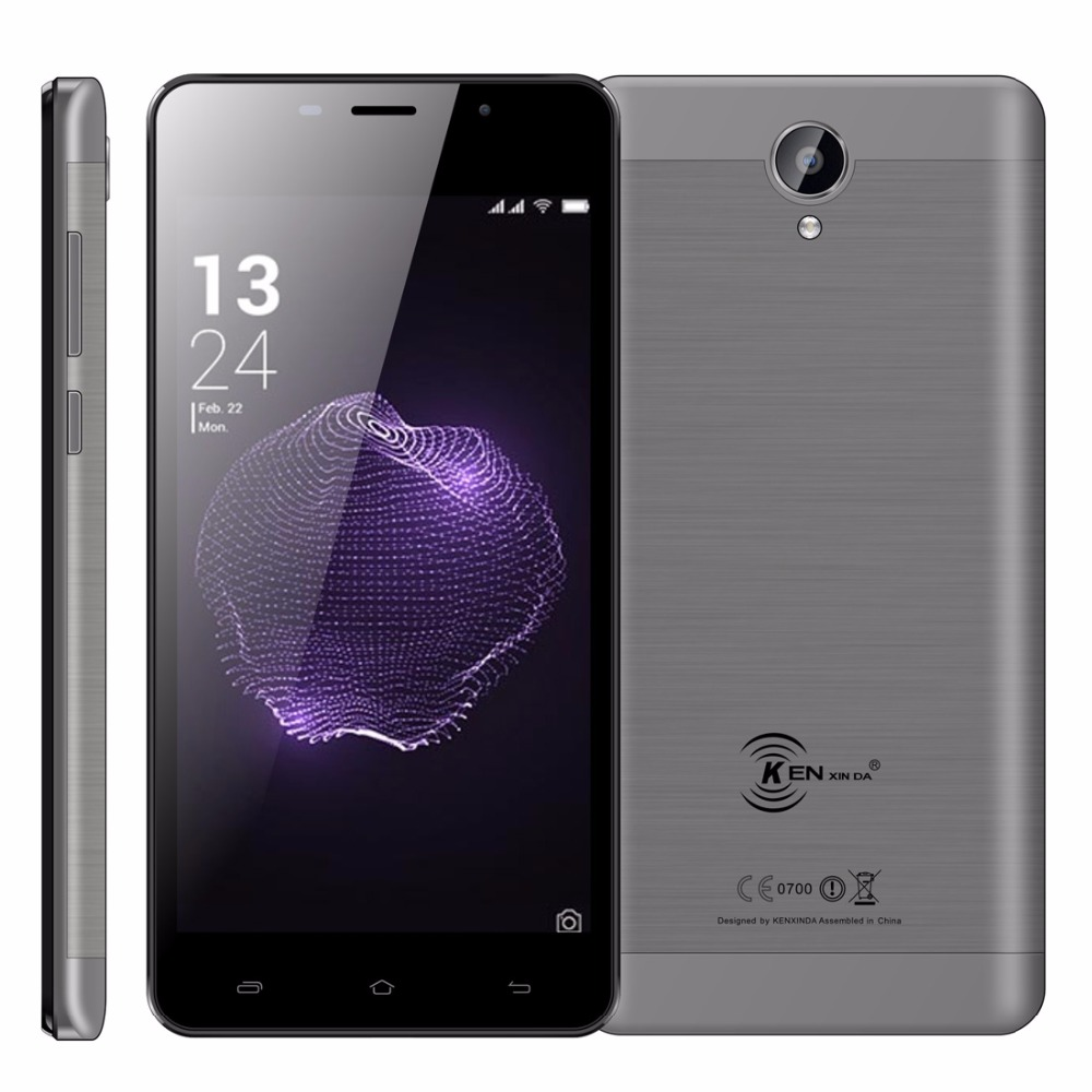 KenXinDa X9 Android 7.0 Mobile Phone 5.5 HD SC9832 Quad Core 2GB RAM 16GB ROM 8MP+5MP 5000mAh Battery 4G LTE Unlock Cellphone