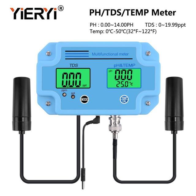 Yieryi PH 2983 디지털 led ph 및 tds 미터 테스터, 2 in 1 고정밀 모니터링 장비 툴