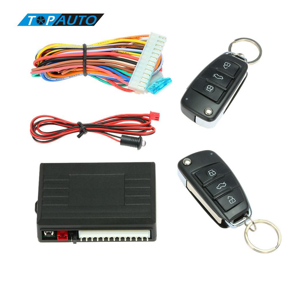 Sistema de alarma de coche cerradura Central de puerta con Control remoto Botón de liberación del maletero para bmw e46 e90 ford focus 2 volkswagen mazda jetta
