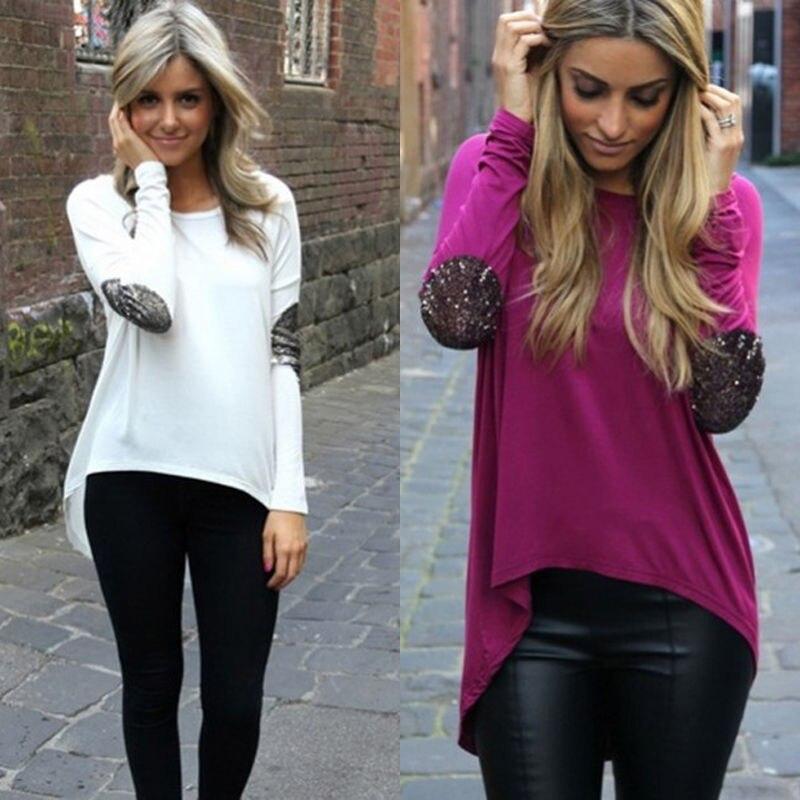 2015 Sexy Fashion Women Ladies Casual Loose Tops Long Sleeve   Blouses     Shirt   winter autumn   blouse   blusas de verao plus size blusa