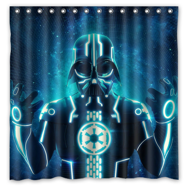 Star Wars Darth Vader Pattern Creative Bath Shower Curtains Bathroom Waterproof Polyester Fabric Curtain 180x180cm In From Home