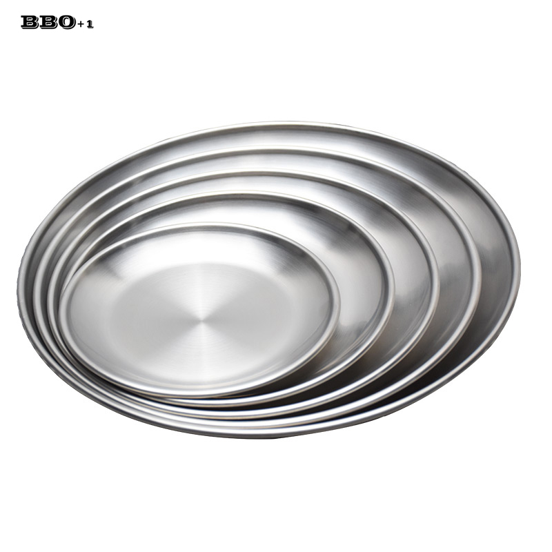 Pc korean style stainless steel round plate bbq grill