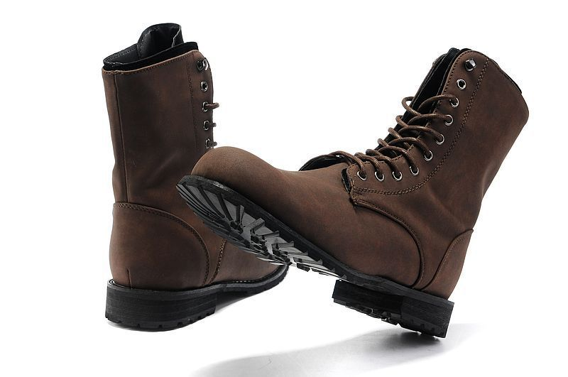 Mens Brown Combat Boots - Cr Boot