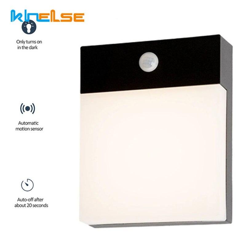 moderno 18 w conduziu a luz da parede sensor de movimento a prova dwaterproof agua ao