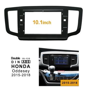 2Din Car DVD Frame Audio Fitting Adaptor Dash Trim Facia Panel 10.1inch For Honda Oddesey 2015-2018 Double Din Radio Player