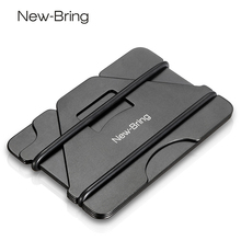NewBring Multiple Function Metal Credit Card Holder Black Pocket Box Business Cards ID Wallet With RFID Anti thief Wallet Men