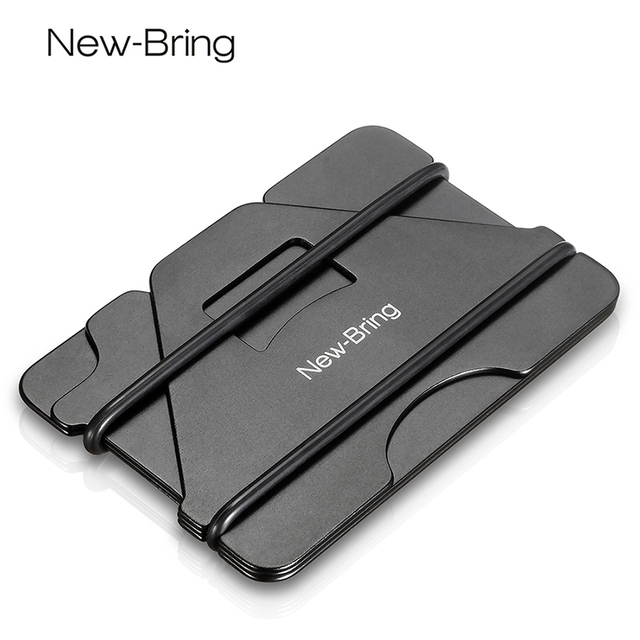 1409812c0eb NewBring Multiple Function Metal Credit Card Holder Black Pocket Box  Business Cards ID Wallet With RFID