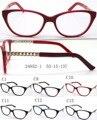 2016 New Cat Eye Woman Acetate Glasses Frame with Metal Tips Half Optical Eyeglass Frame Oculos De Grau 10pcs/lot wholesale