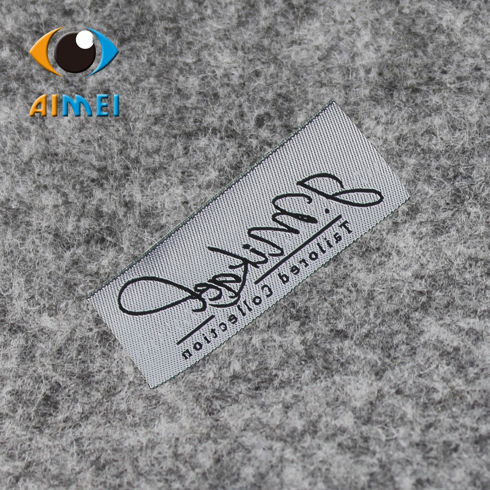 Free Design Customized 500pcs lot High density woven labels with super sonic cut edges foe clothing