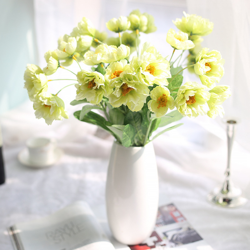Zonaflor artificial flower bouquets artificial poppy flowers new zonaflor artificial flower bouquets artificial poppy flowers new wedding decorative fake flower home decoration accessories in artificial dried flowers mightylinksfo