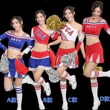 2017 summer High School Girls Cheerleading Costume Sleeveless Cheerleader Uniform Sportwear Lady Halloween Fancy Costume