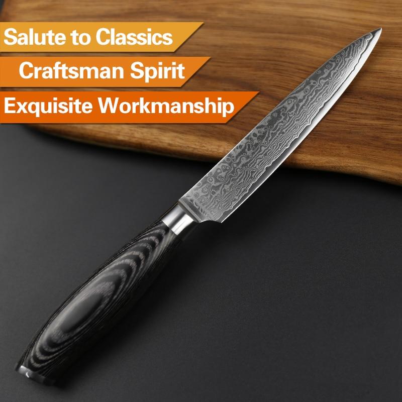 XINZUO 5 ιντσών μαχαίρι χρησιμότητας - Κουζίνα, τραπεζαρία και μπαρ - Φωτογραφία 5