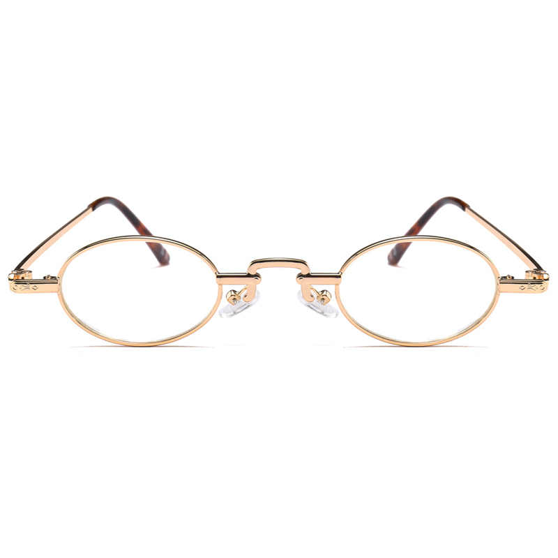 69355f8dae2 ... Kachawoo mini oval glasses optical men accessories metal frame clear  lens small round eyeglasses frames women ...