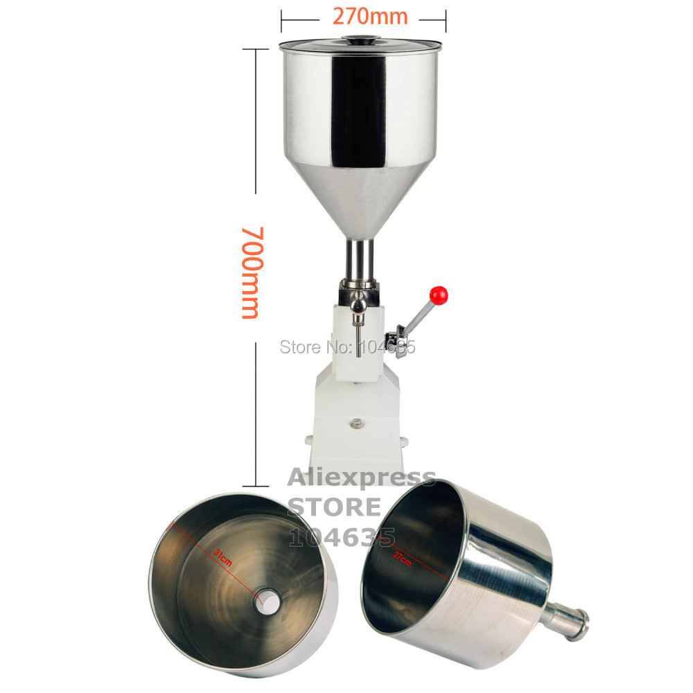 A03 Upgraded High Precision small bottle handle operate stainless steel Manual paste liquid cosmetic filling machine