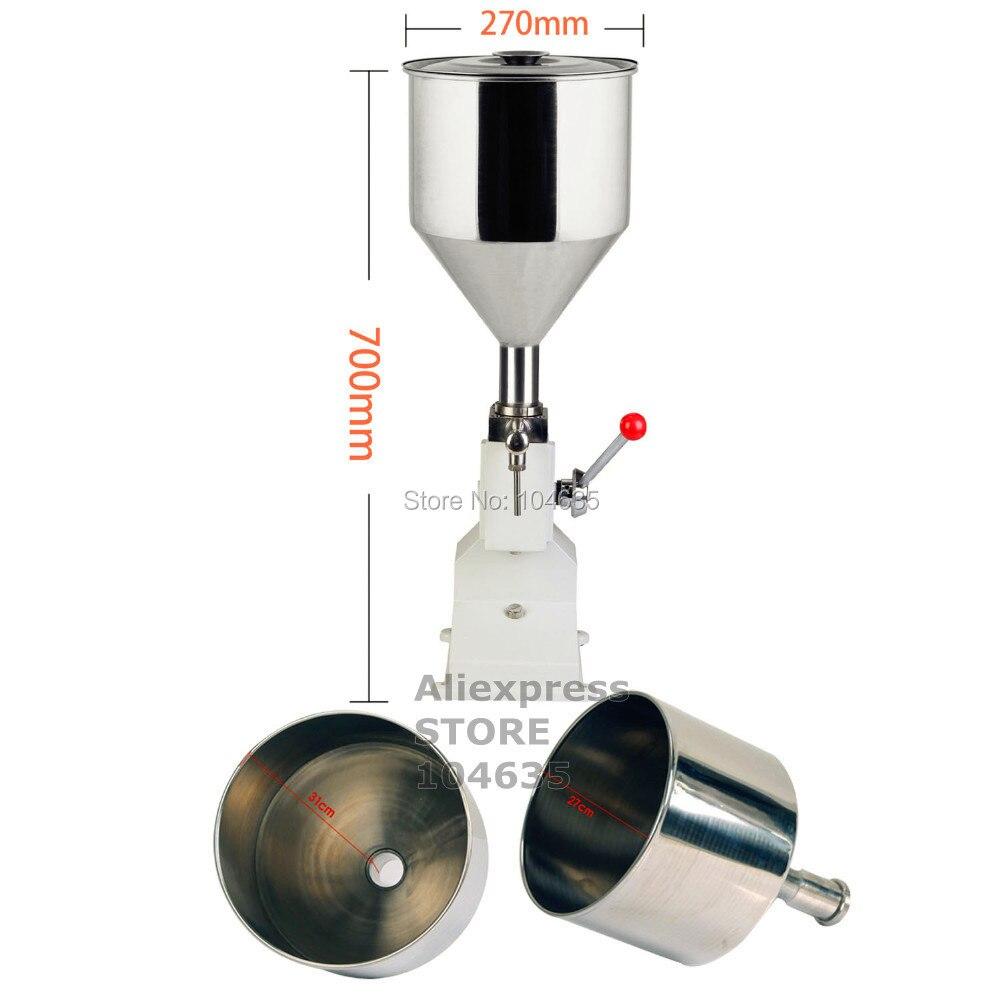 A03 Aggiornato di Alta Precisione piccola bottiglia maniglia operare in acciaio inox Manuale di pasta liquida macchina di rifornimento 5-50 ml