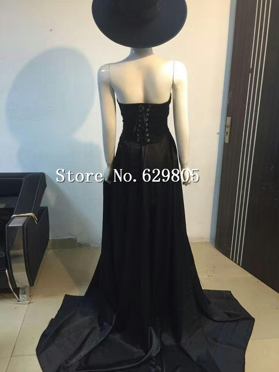 Black Long Skirt Girly Dj Ds Female Singer Costumes Big Full Dress Formal Dress Clothing Set Performance Nightclub Dance Wear