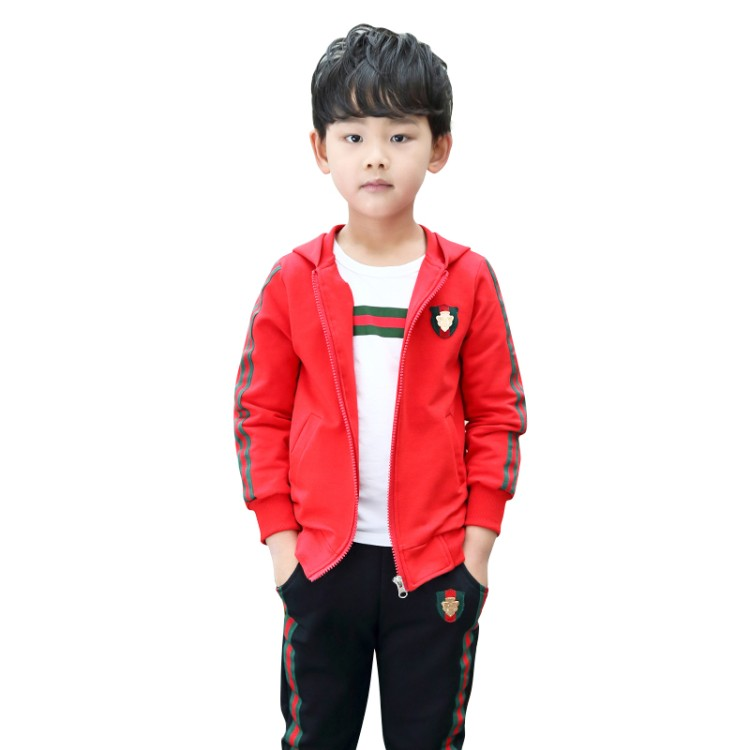 2018 casual children clothing Brand Boy Tracksuits Costume Spring Boys Clothing Sets Kids Sports Suit 6 12 Y Kids Clothes Suit new spring kids clothes navy long sleeve pullover striped sports suit casual boys clothing set z249