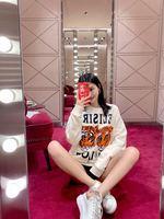 YAH07210 Модные женские толстовки и свитшоты 2019 для подиума роскошный известный бренд Европейский дизайн вечерние Стиль Женская одежда