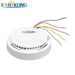 Earykong проводной детектор дыма электронный дым сенсор для дома охранной GSM/wi fi/Другое сигнализации системы