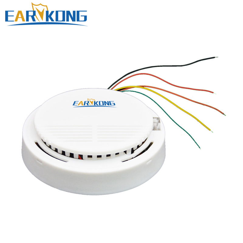 Earykong Wired Smoke Detector Electronic Smoke Sensor For Home Burglar GSM / Wifi / Other Alarm System