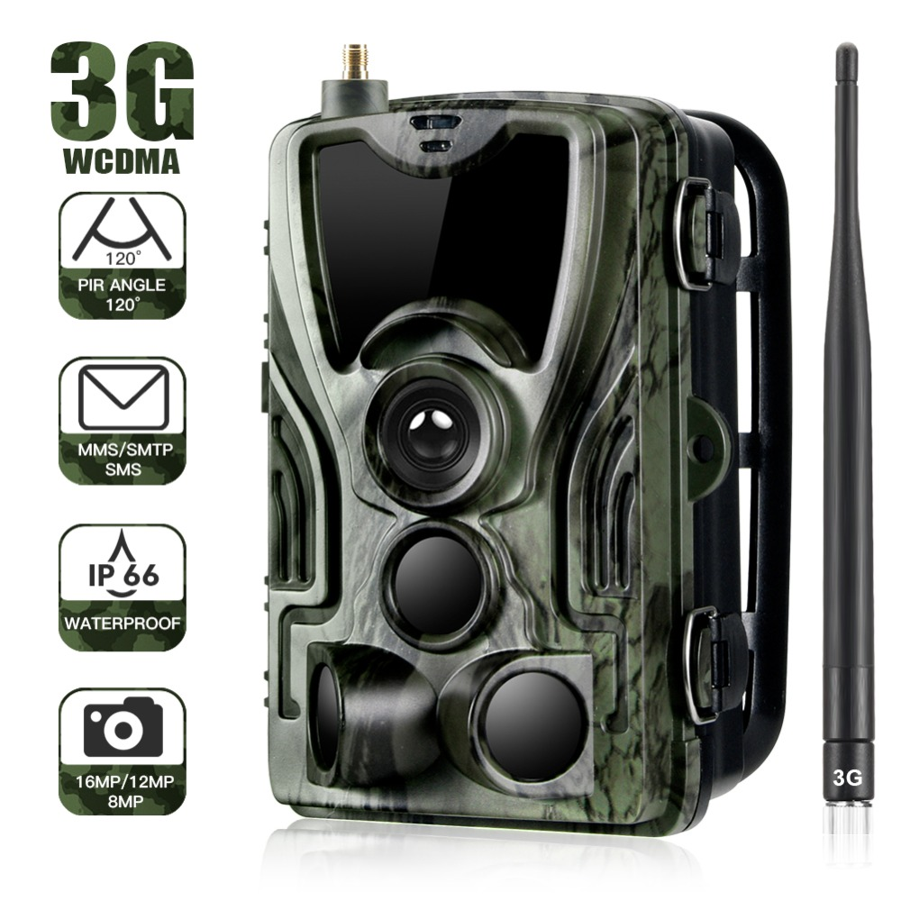 Suntekcam HC-801G 3G Chasse Caméra 16MP Trail Caméra SMS/MMS/SMTP IP66 Photo Pièges 0.3 s Trigger temps 940nm Led Sauvage Caméras
