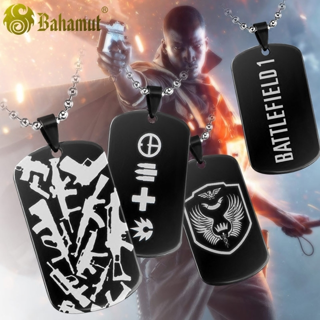 09b7aafacea75 Battlefield 1 Game Limited Edition Metal Dog Tag Titanium Steel Necklace  Pendant-in Pendants from Jewelry & Accessories