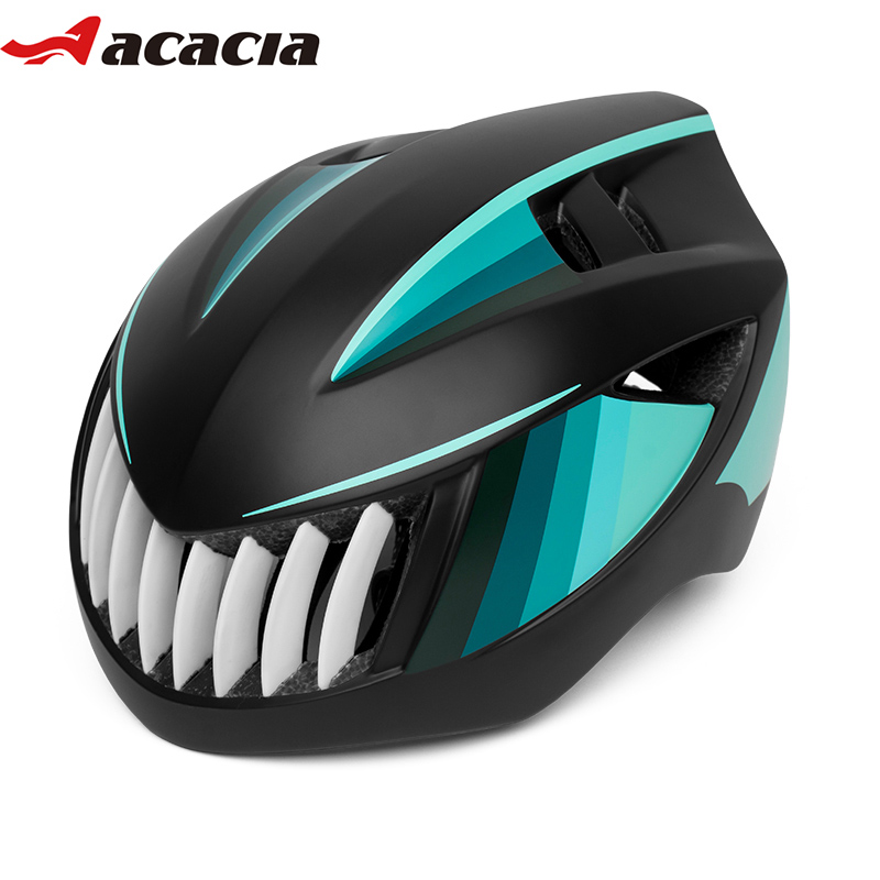 ACACIA Shark Cycling Helmets Integrally-molded MTB Road Bike Helmet Ultralight Safe Cap EPS+PC Bicycle Helmets casco ciclismo west biking bike chain wheel 39 53t bicycle crank 170 175mm fit speed 9 mtb road bike cycling bicycle crank