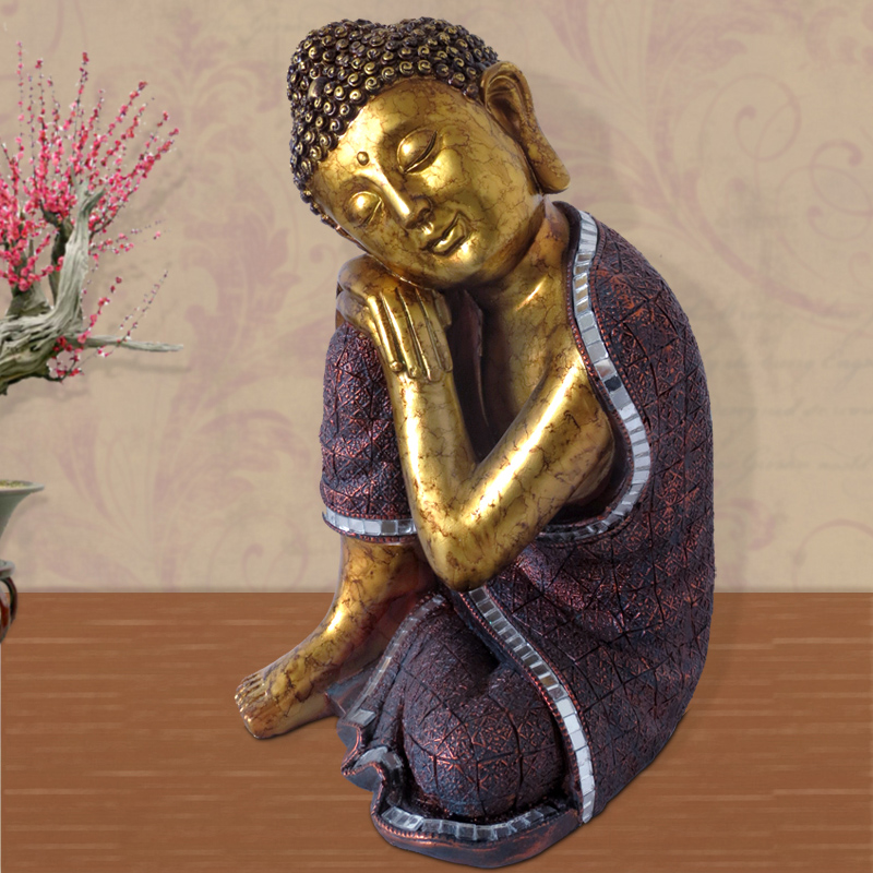 Thailand Crafts Southeast Asia Sleep Buddha Decoration statue figure Home Furnishing ornaments buddhist creative gift