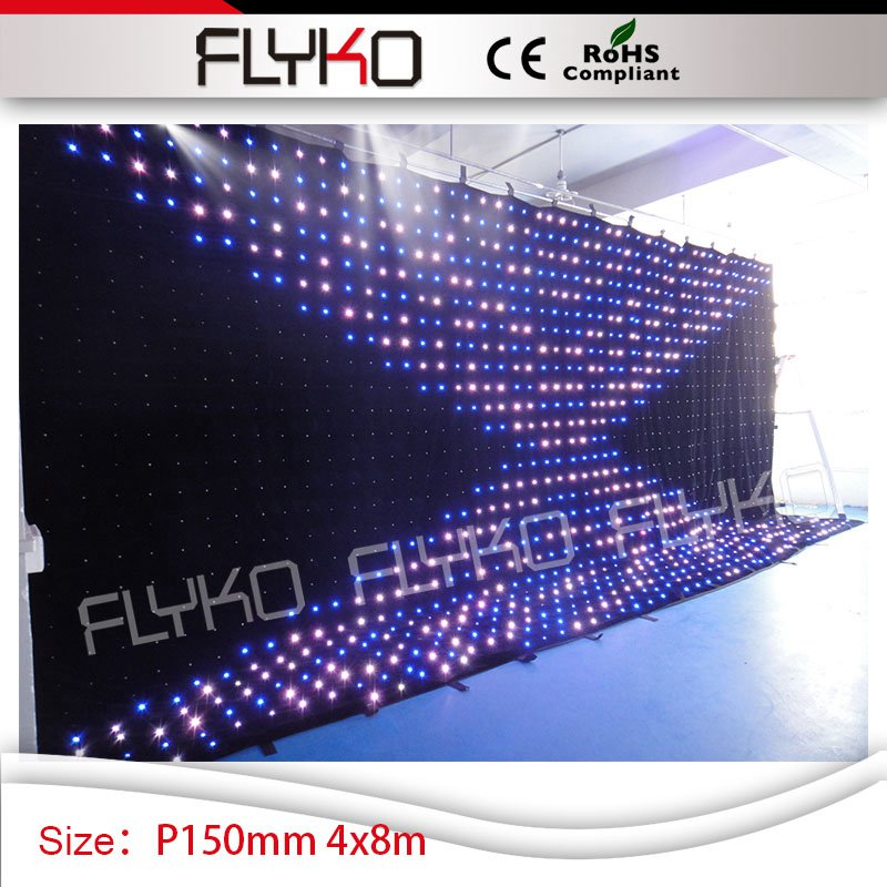 curtain show light led P15 stage vision decoration led curtain xx video display 4m by 8m ...