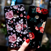 New Rose Flowers 3D Relief TPU Case Xiaomi Redmi Note 3 4 4X 4A 5A Prime Silicone Soft Cover Mi A1 Mi6