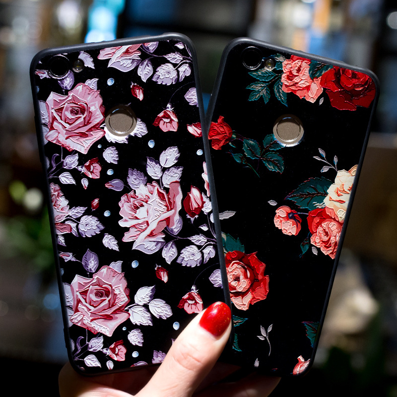 New Rose Flowers <font><b>3D</b></font> Relief TPU <font><b>Case</b></font> <font><b>Xiaomi</b></font> <font><b>Redmi</b></font> <font><b>Note</b></font> <font><b>3</b></font> <font><b>Note</b></font> 4 4X 4A <font><b>Redmi</b></font> 5A <font><b>Note</b></font> 5A Prime Silicone Soft Cover <font><b>Xiaomi</b></font> Mi A1 Mi6 image