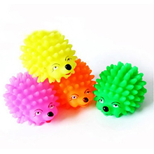 1 PC Cute Hedgehog Shape Pet Dog Puppy Squeaky Chew Toy Squeaker Ball Funny Toys Random Color M0077 P66