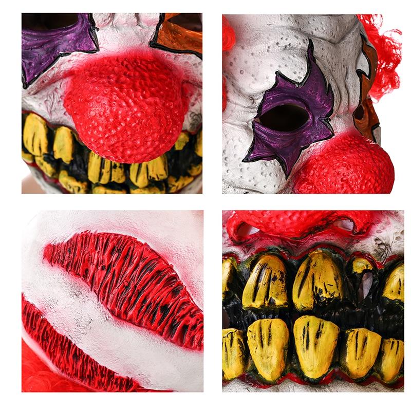 H & D punase nina klouni mask Circus hirmutav tapja halloween õudus - Pühad ja peod - Foto 2