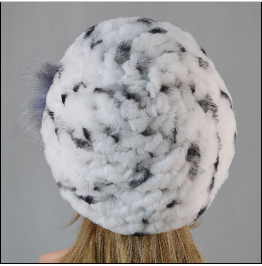 Chapeau 100% naturel doux réel Rex lapin fourrure