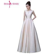 2020 Beauty Emily Lange Goedkope Stain Roze Zwart Avondjurken Boothals Vloer Lengte A lijn Lace Up Prom dress Party Gelegenheid