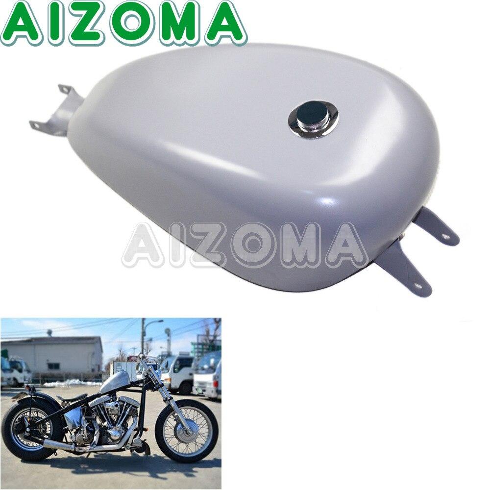 Metal Motorcycles Oil Tank 3.3 Gallon EFI Smooth Gas Fuel Tank For Harley Davidson Sportster XL1200 XL883 2004 2005 2006