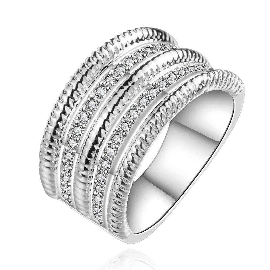 Free Shipping Newest Joyas De Silver Plated Rings For Men Bulgary Aliancas  Bone Smtr659